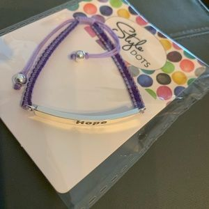 Style Dots Giving Circle Cancer Support Braclet
